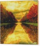 Painters Landscape Wood Print