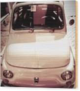 500 Fiat Toned Sepia Wood Print by Stefano Senise