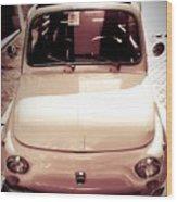 500 Fiat Toned Sepia Wood Print