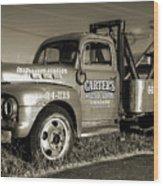 50's Wrecker Truck Wood Print