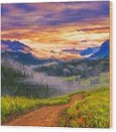 Art Landscape Wood Print