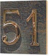 51 Wood Print