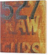 527 Raw Furs Wood Print