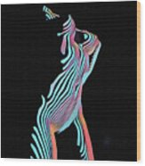 5291s-mak Nude Female Torso Rendered In Composition Style Wood Print