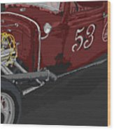'53 Rat Rod Wood Print