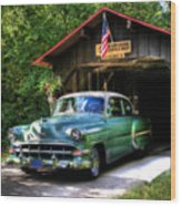 54 Chevy Wood Print