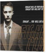 5499 Fight Club Hd S Black Wood Print