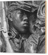 54th Massachusetts Memorial Wood Print by Brian M Lumley