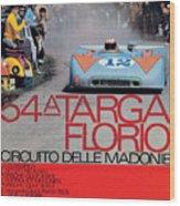54th Targa Florio Porsche Race Poster Wood Print