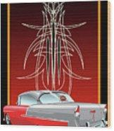 55 Chevy Pinstriping Wood Print