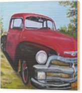 55 Chevy Truck Wood Print