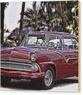 55 Ford Fairlane Wood Print