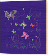 558   Butterflies  V Wood Print