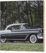 56 Chevy Bel Air Wood Print