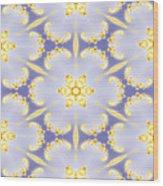 Fractal Floral Pattern Wood Print