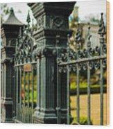 5603 St. Charles Ave Fence- Nola Wood Print