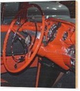 57 Chevy Bel Air Interior Wood Print
