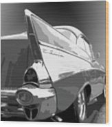 57 Chevy Wood Print