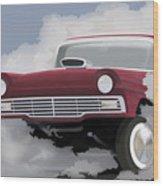 57 Ford Gasser Wood Print