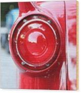 '57 Tail Light Wood Print