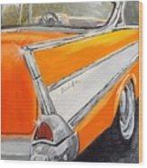 '57 Tangerine Wood Print
