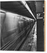 57th Street Platform Wood Print by Barry C Donovan