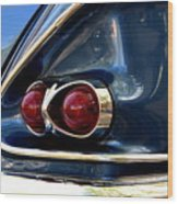 58 Bel Air Tail Light Wood Print