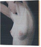 Nude Study Wood Print by Masami Iida
