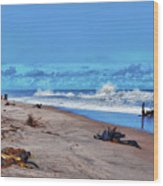 58- Sapphire Surf Wood Print