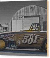 581 Bonneville Race Car Wood Print