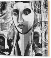 595 -  A Face A ... Wood Print
