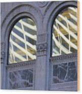 5th Avenue Reflections Wood Print
