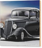 1934 Ford Five-window Coupe Wood Print