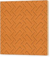 Abstract Orange, White And Red Pattern For Home Decoration Wood Print