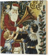 American Christmas Card Wood Print by Granger