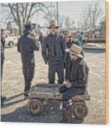 Amish Life Wood Print