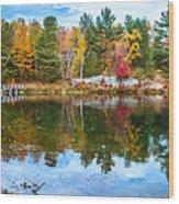 Autumn Season In Killarney Wood Print