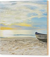Beach Panorama Wood Print