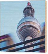 Berlin Tv Tower Wood Print