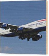British Airways Boeing 747 Wood Print