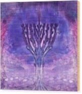 Chanukkah Lights Wood Print