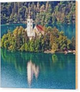 Church Of The Assumption - Lake Bled, Slovenia Wood Print
