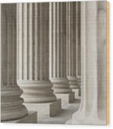 Columns Of The Supreme Court Wood Print