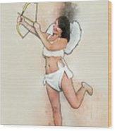 Cupid The God Of Desire Wood Print