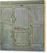 6 Doors Wood Print