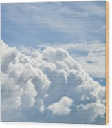 Dramatic Cumulus Clouds With High Level Cirrocumulus Clouds For  Wood Print