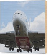 Emirates Airbus A380 Wood Print