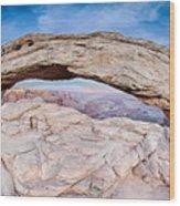 famous Mesa Arch in Canyonlands National Park Utah  USA Wood Print