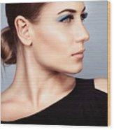 Fashion Woman Portrait Wood Print
