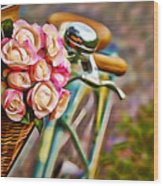 Flower Bike Collection Wood Print